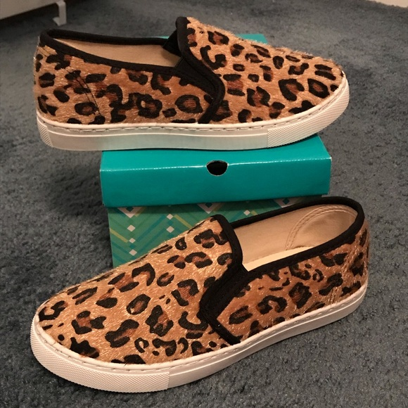 5e90d8384021 Anna Shoes | Leopard Print Slip On Sneaker | Poshmark